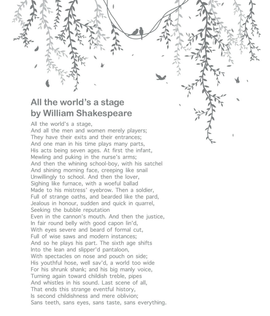 10 Best Poetries Everyone Should Read - All the world's a stage by William Shakespeare