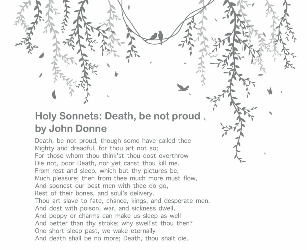 10 Best Poetries Everyone Should Read - Holy Sonnets - Death, be not proud by John Donne