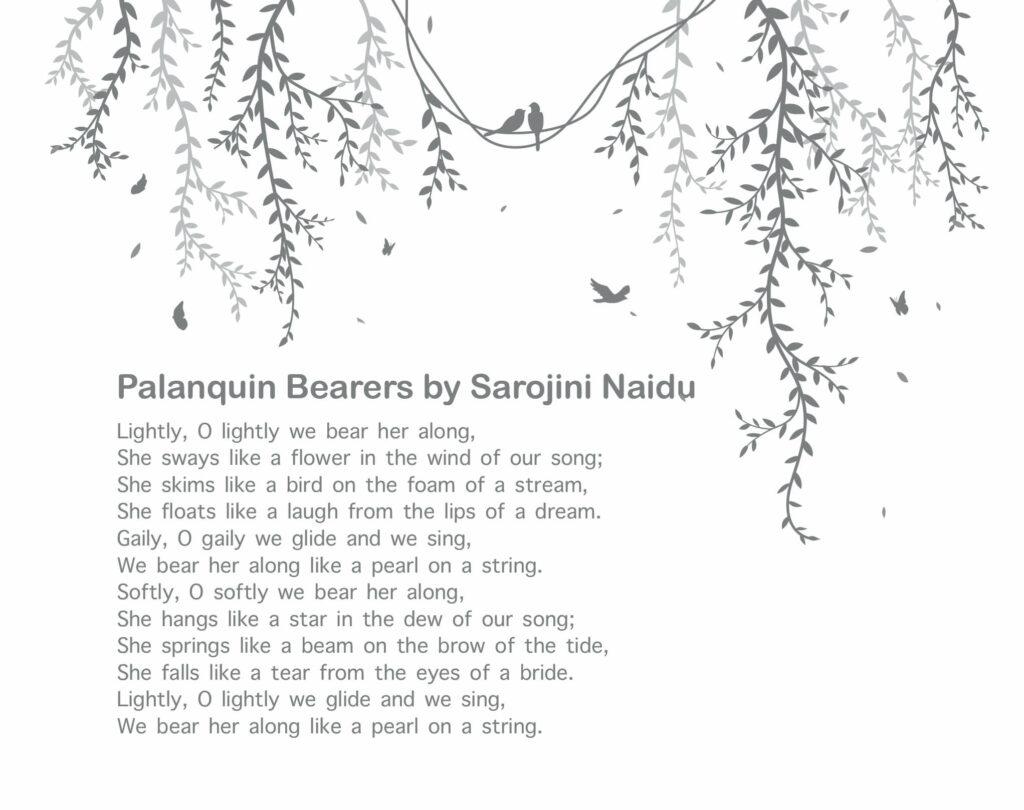 10 Best Poetries Everyone Should Read - Palanquin Bearers by Sarojini Naidu