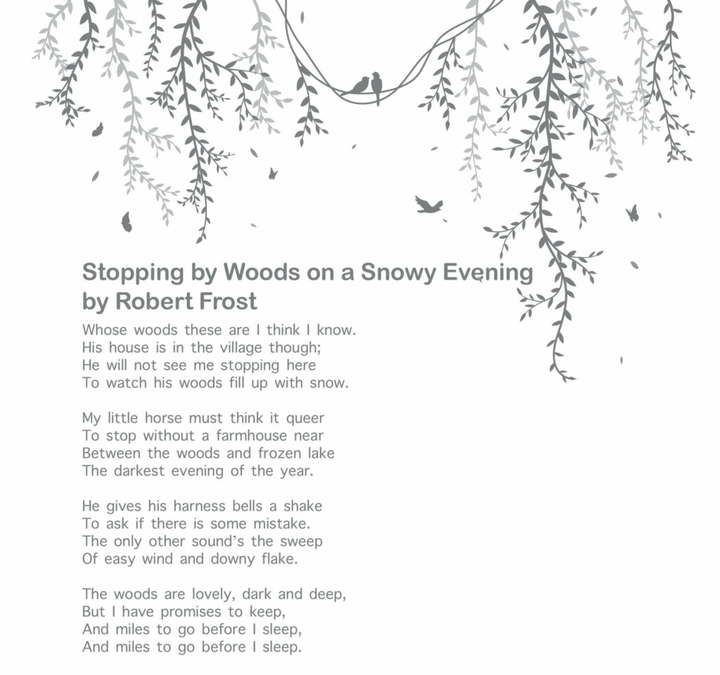 10 Best Poetries Everyone Should Read - Stopping by Woods on a Snowy Evening by Robert Frost