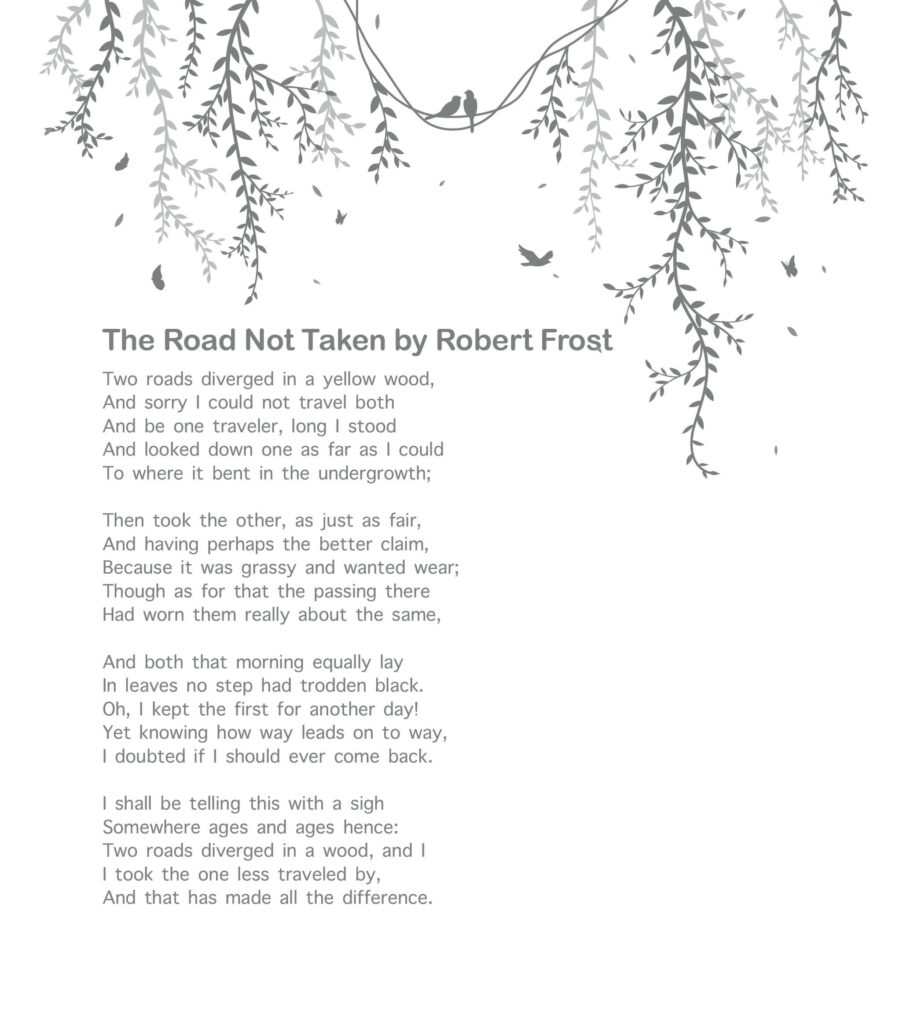 10 Best Poetries Everyone Should Read - The Road Not Taken by Robert Frost
