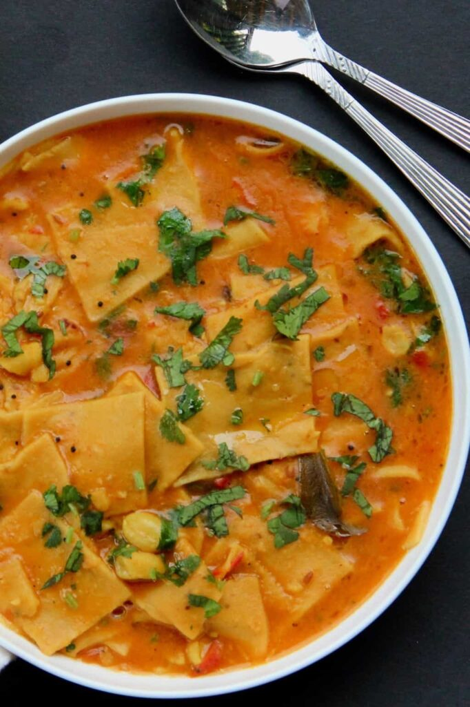 Comfort In 1 Bowl: One pot Dinners that would put even your FAV multi cuisine restaurants to shame.  Chakoli /Sel Roti or Dal dhokli