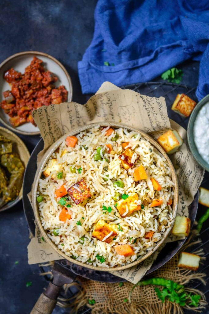 Comfort In 1 Bowl: One pot Dinners that would put even your FAV multi cuisine restaurants to shame. Peas Paneer Pulao